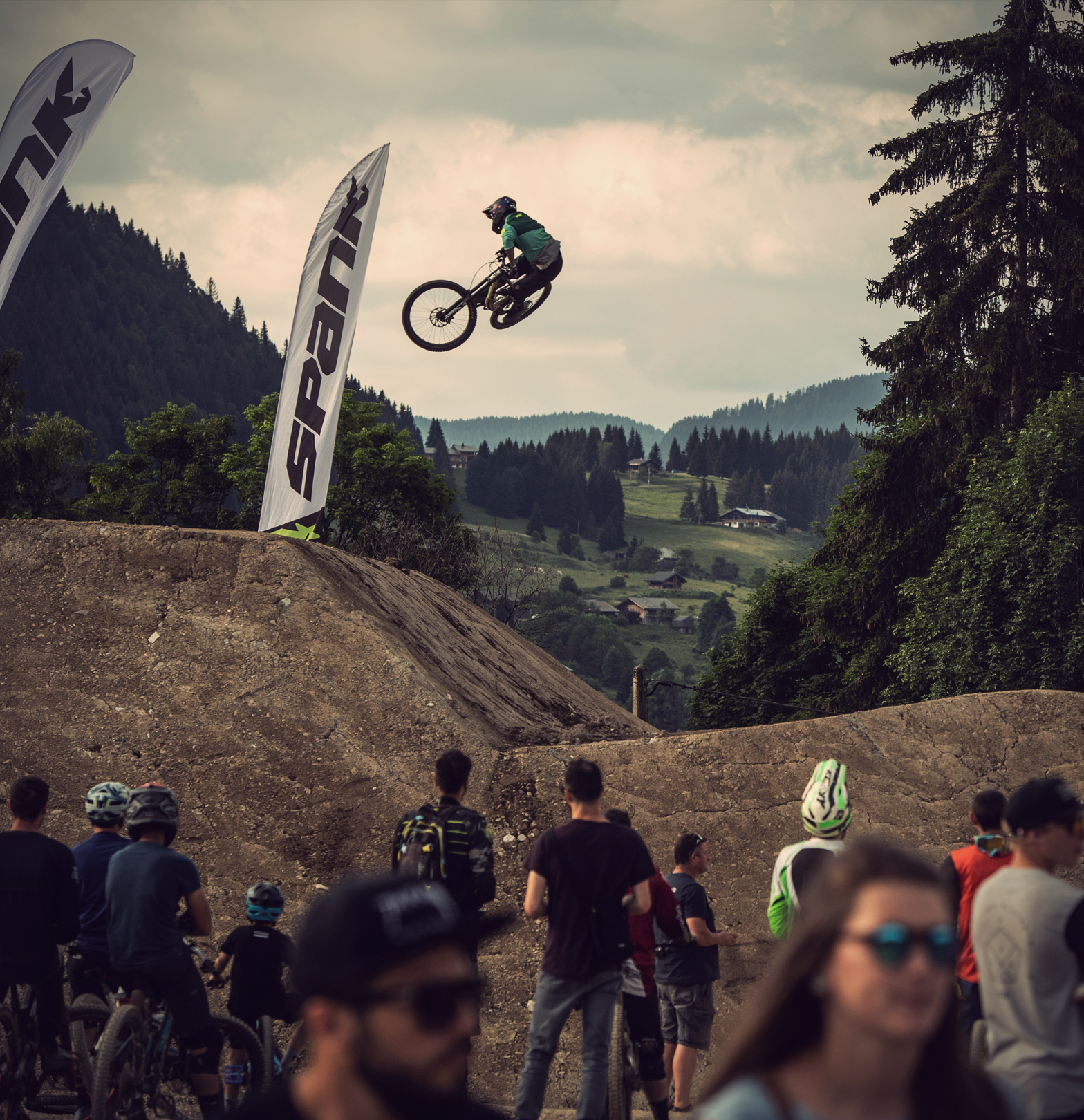 Amir Kabbani at the Crankworx Les Gets Whip-Off Session.