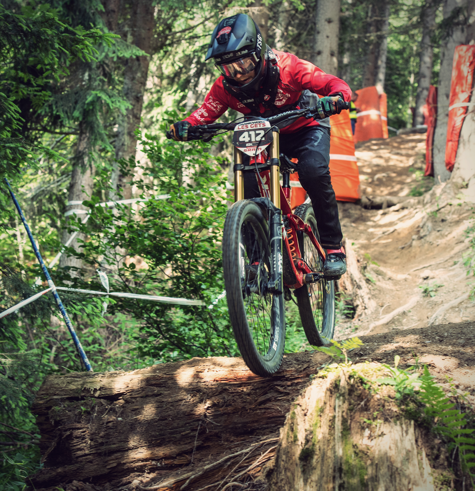 Dominik Wifmer at the Crankworx Les Gets 2018 Downhill.