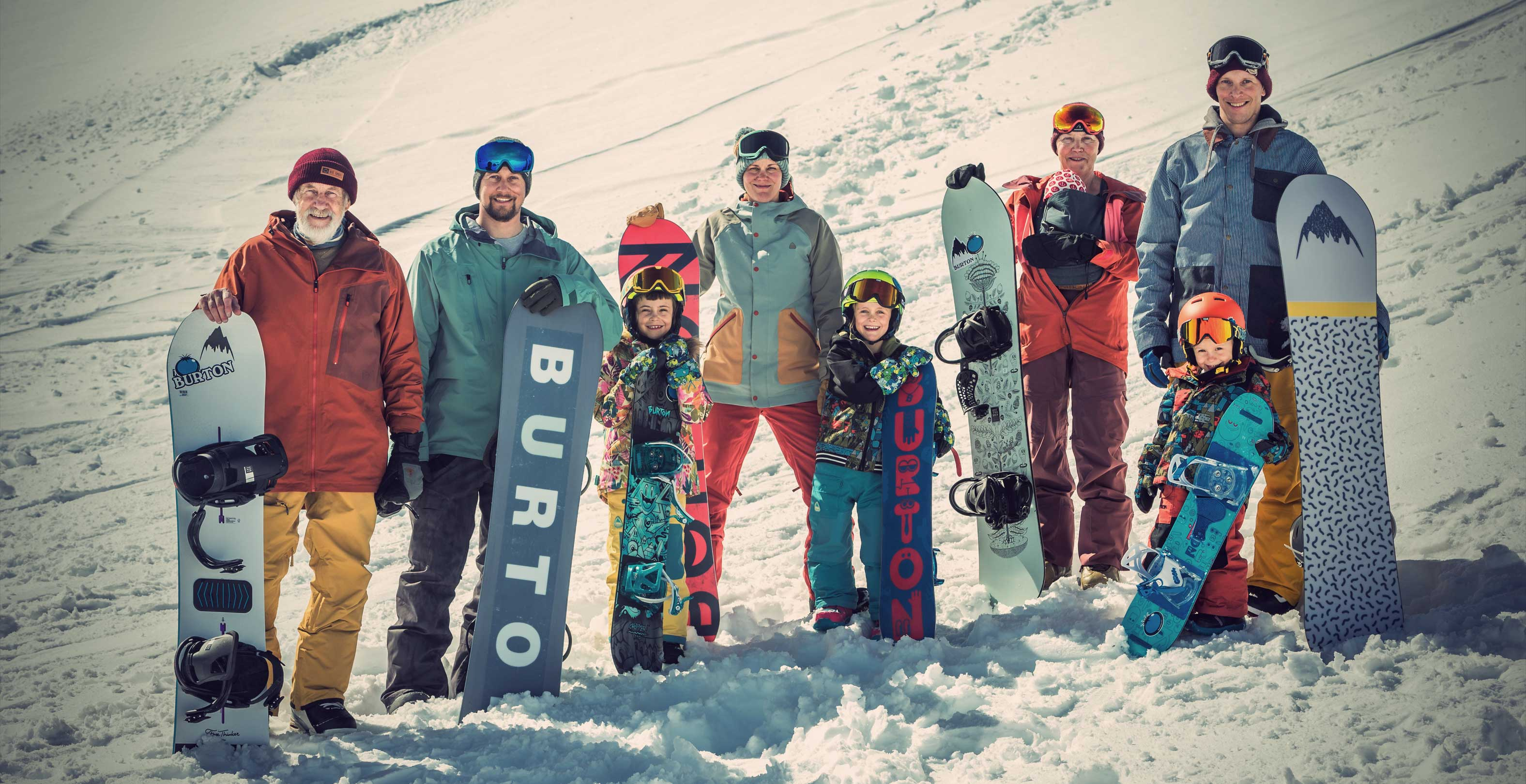 The Snowboarding Family