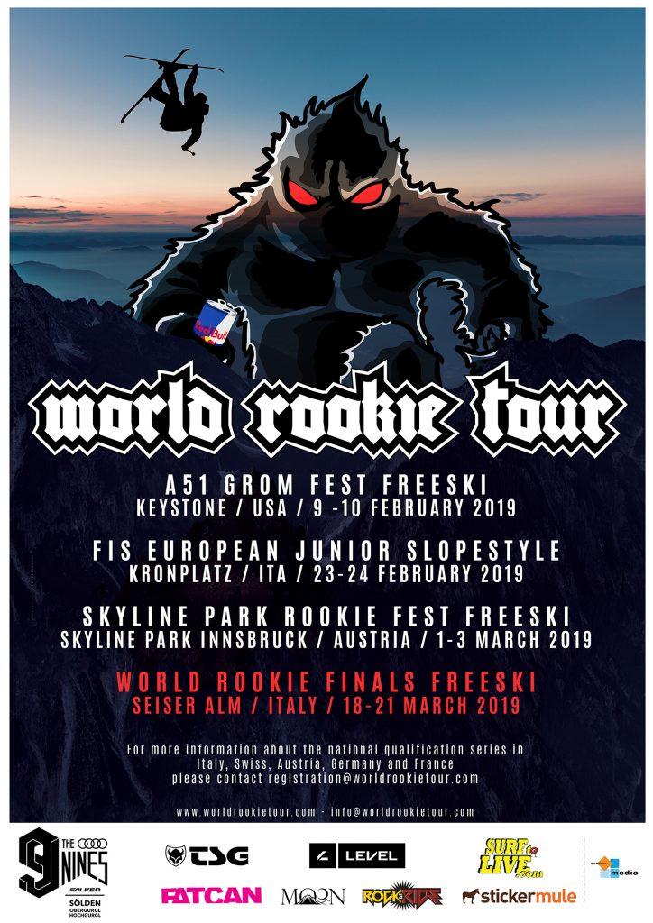 World Rookie Tour Freeski 2019 Flyer