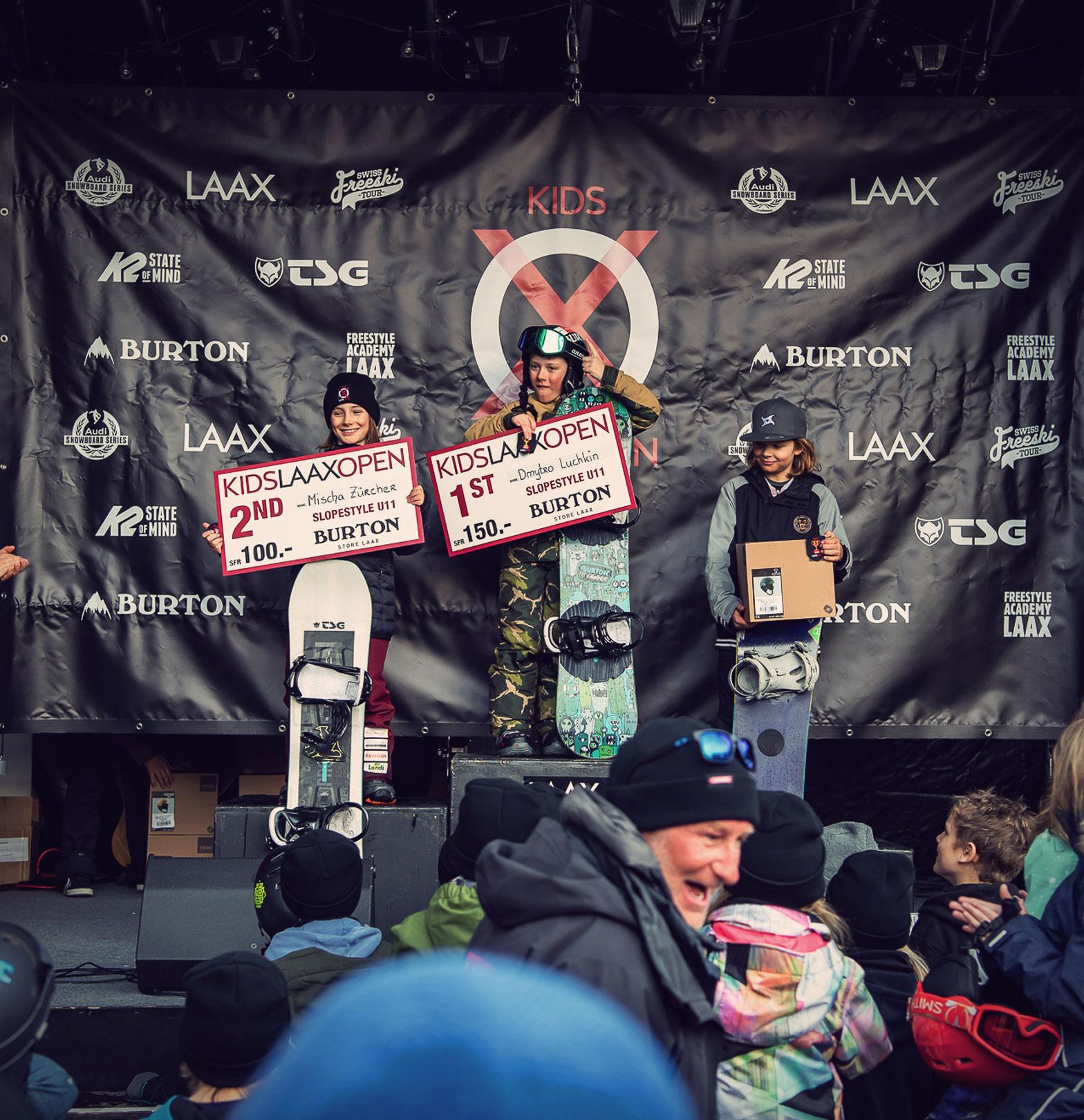 TSG Kids Kids Laax Open 2019 snowpark laax podium Mischa Zürcher