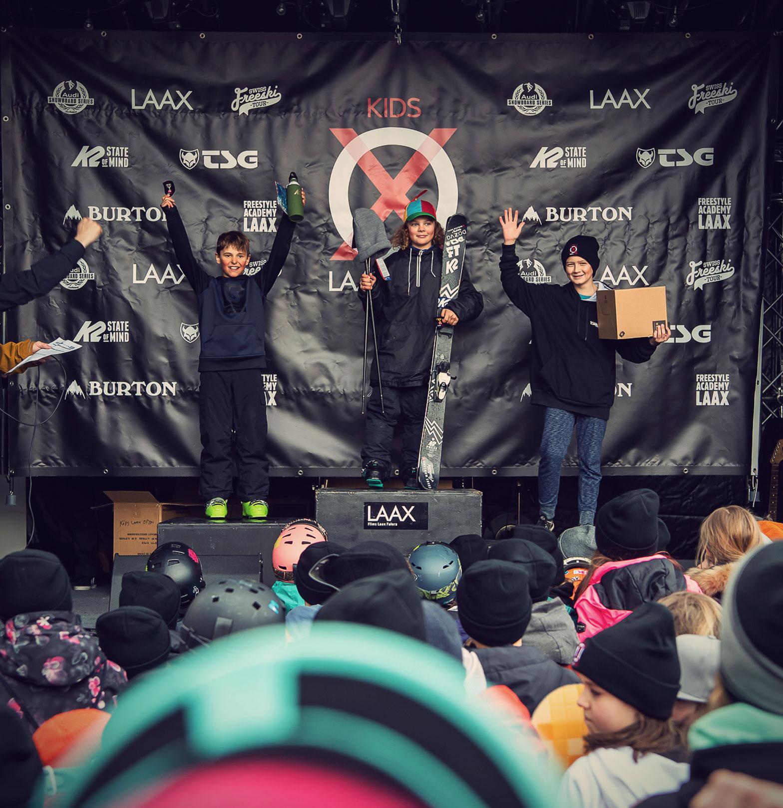 TSG Kids Kids Laax Open 2019 snowpark laax podium Louis Coubes