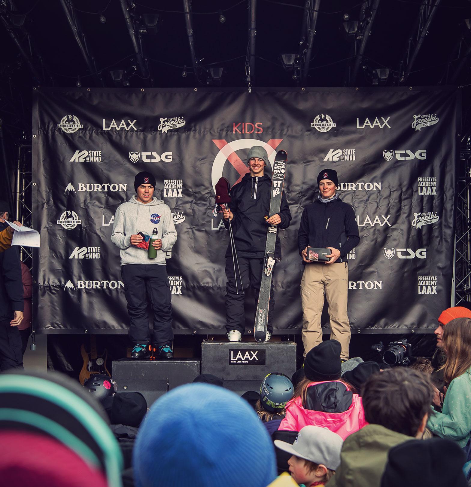 TSG Kids Kids Laax Open 2019 snowpark laax podium Aurelien Coubes
