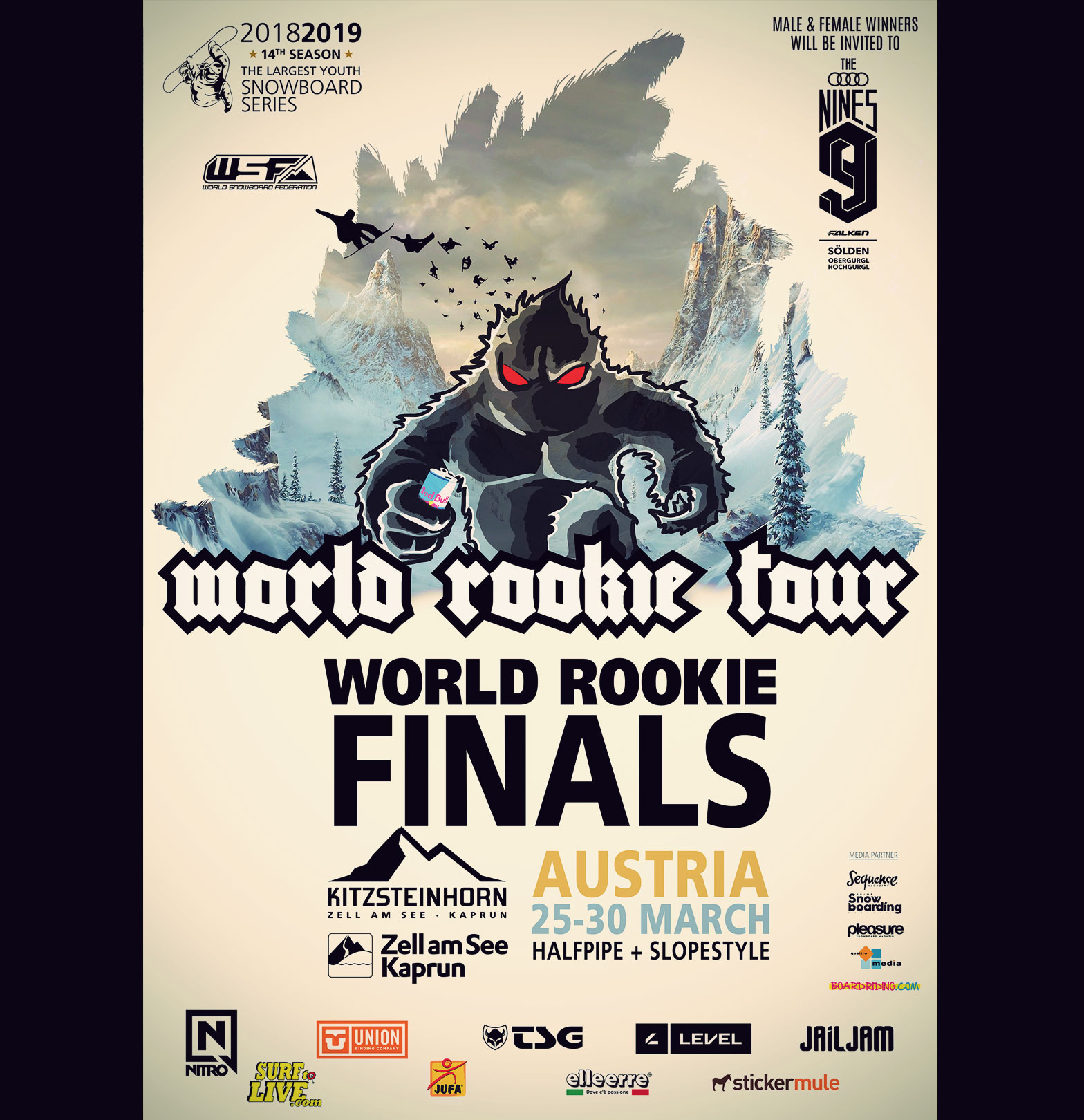 TSG Kids WRT World Rookie Tour Finals 2019 Flyer