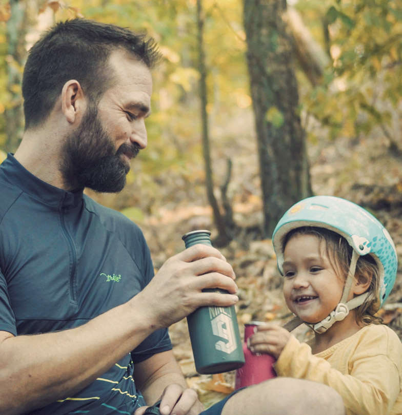 What mountain biking really is about. Timo Pritzel and daugther enjoy the nature
