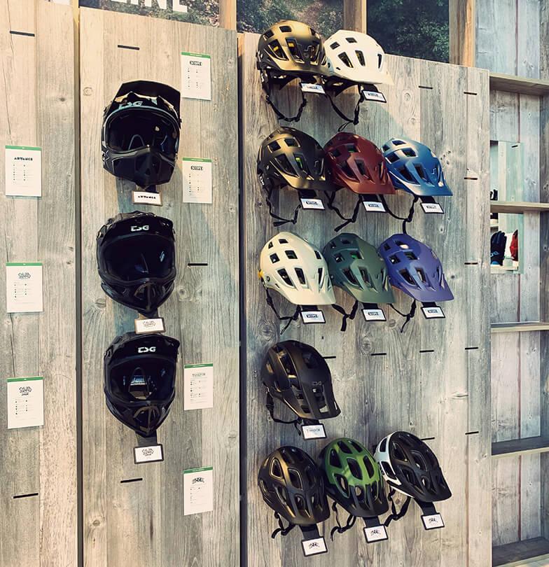 Eurobike 2019 TSG Booth Bike Helmets