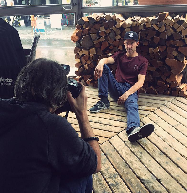 Gian Simmen modelling for TSG photo shoot winter 2019