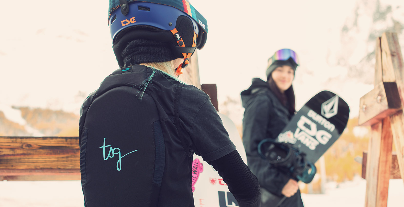 snowboarder with back protector