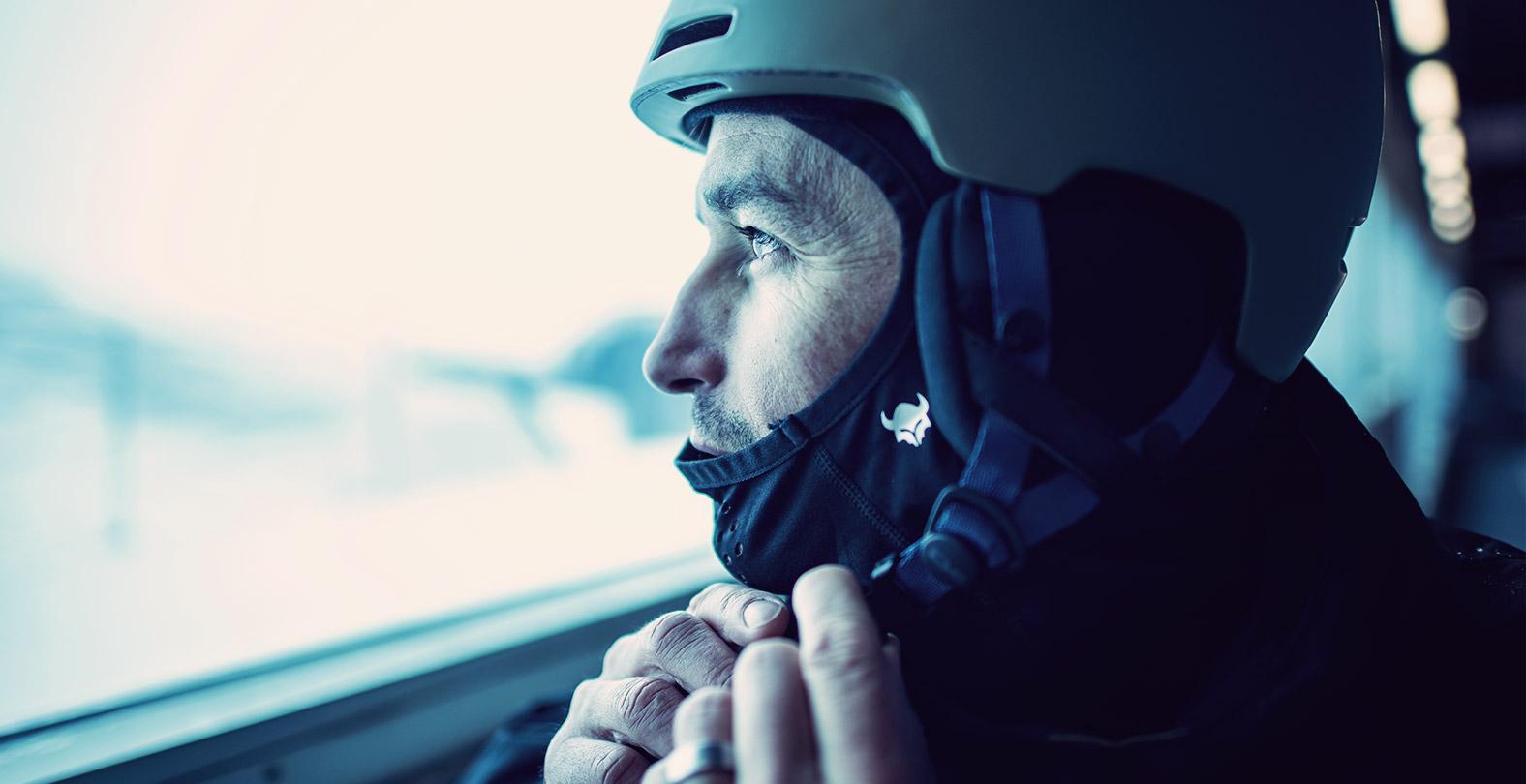 Gigi Ruef Portrait Snowboarder Helmet