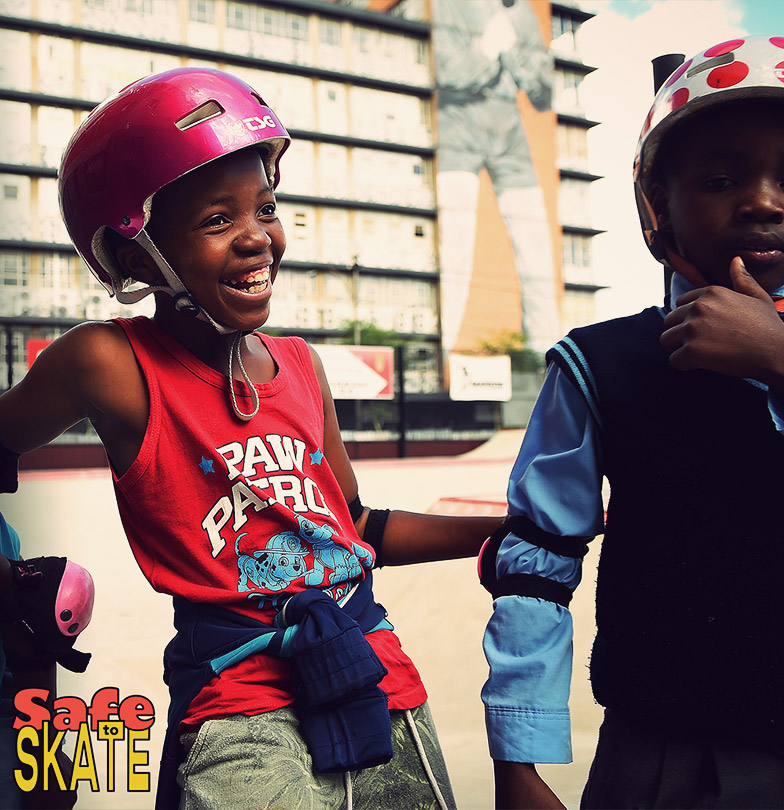 safe to skate Skateistan giving friday kids skateboard