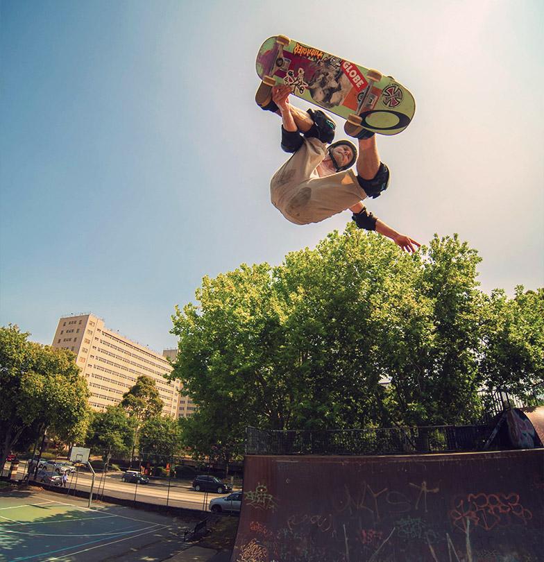 skateboarder Renton Millar Vert Ramp
