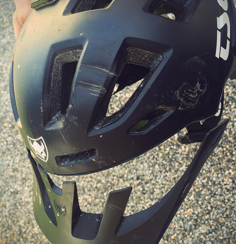 TSG saved my life broken helmet