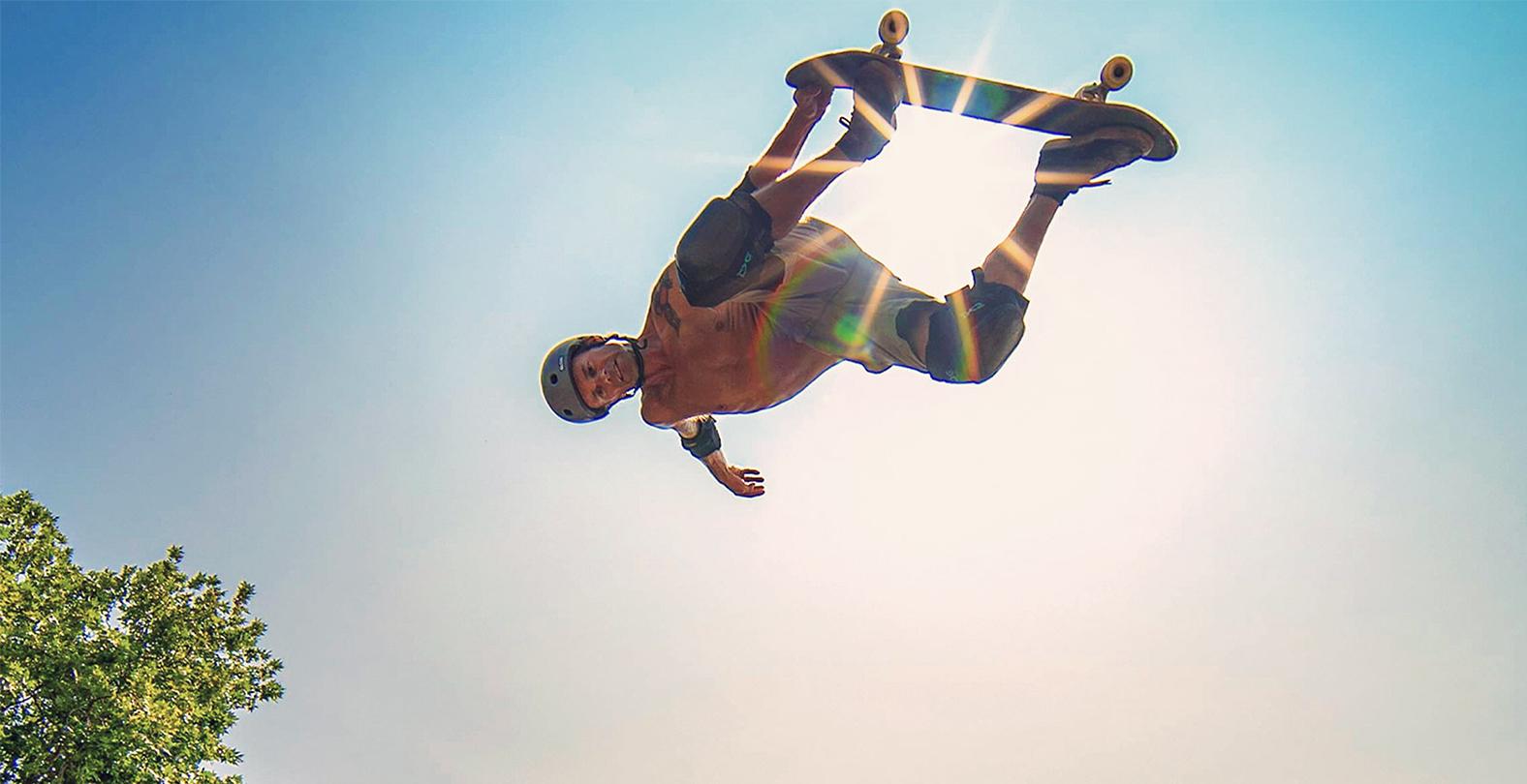 skateboarder in the air tsg team rider Renton Millar