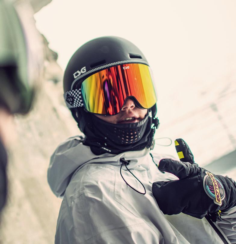 Nick Pünter TSG Goggle Four Fly Snowboard Helmet