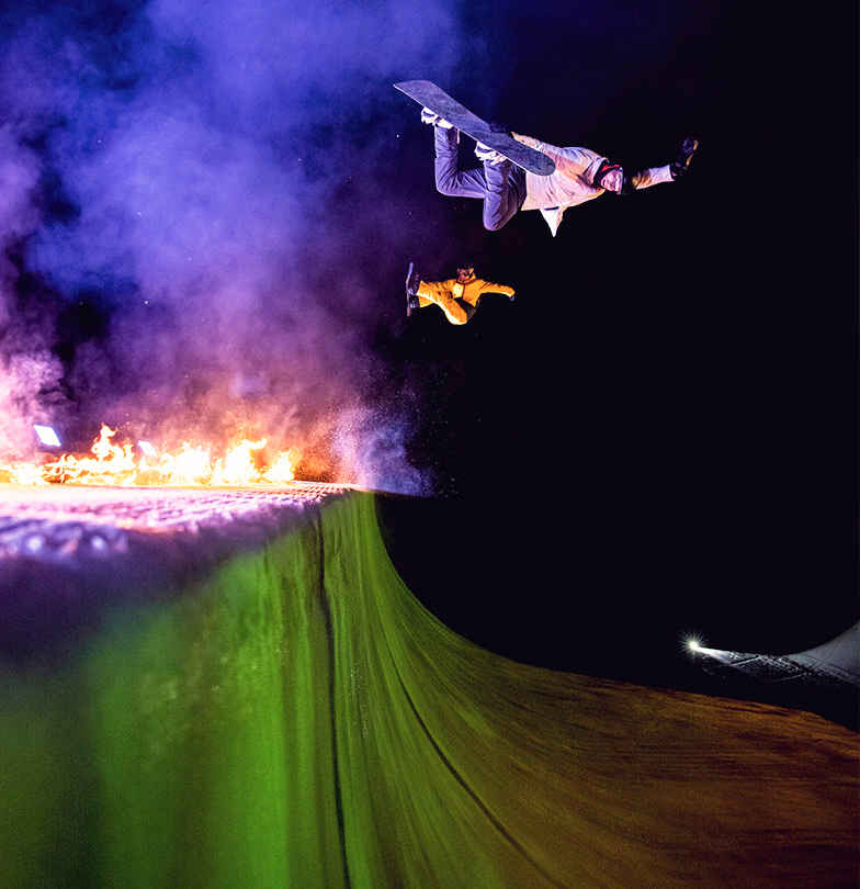 light up the halfpipe Iouri Podladtchikov Gian Simmen