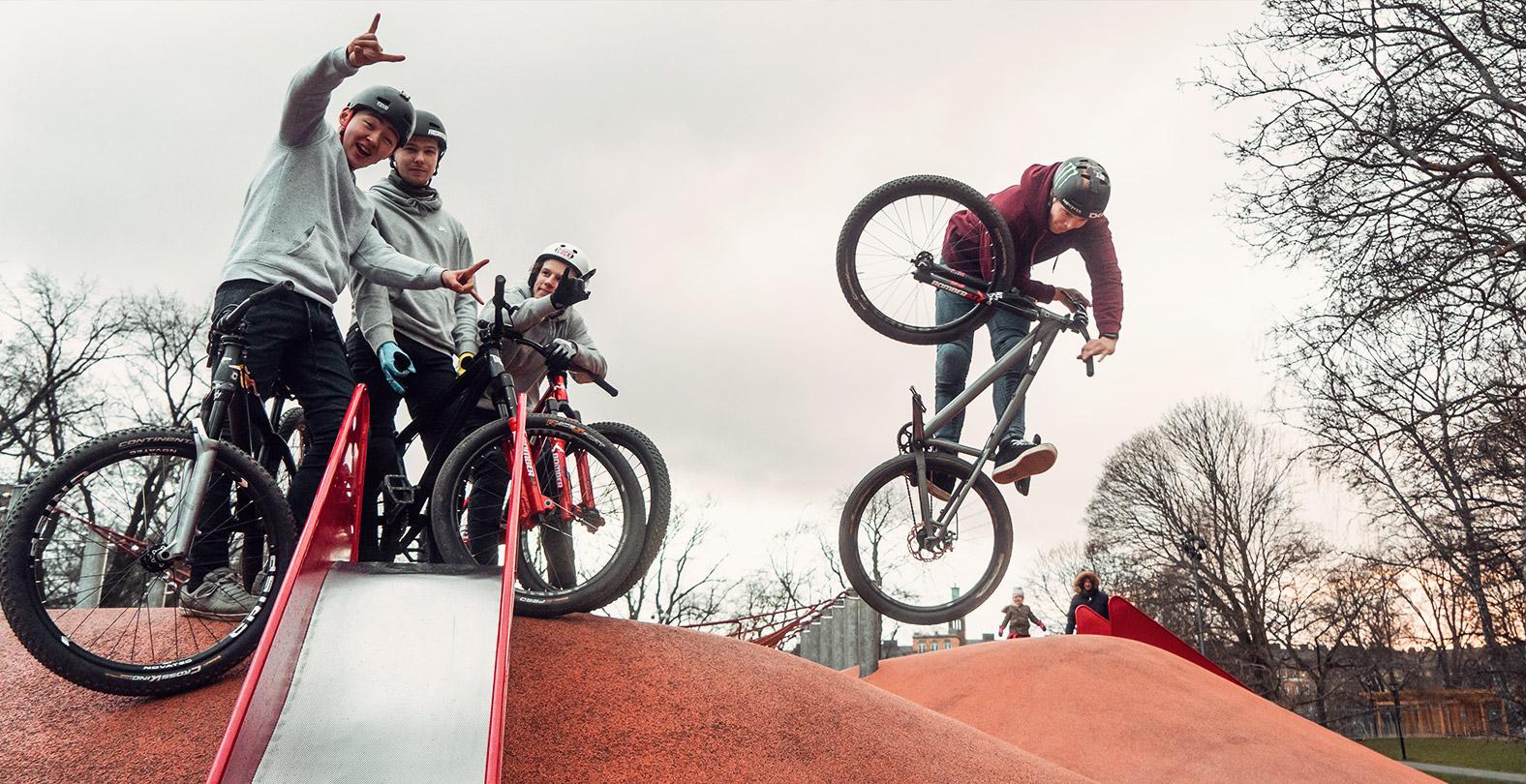 Max Fredriksson Mountain biker and friends