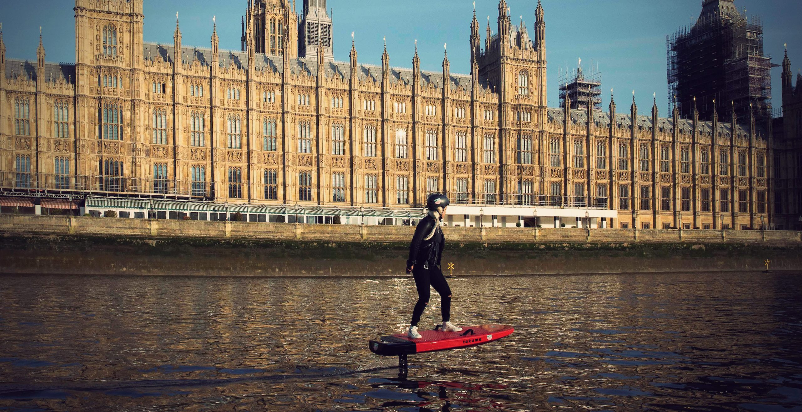 Aimee Fuller efoil river Thames